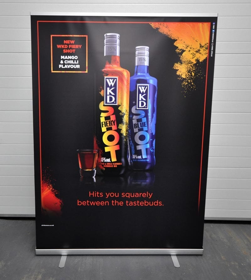 1500mm wide printed roller banner