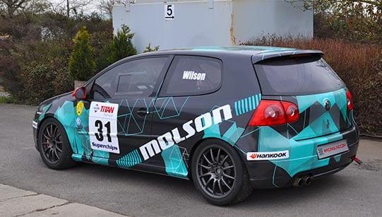 VW rally car vehicle wrap