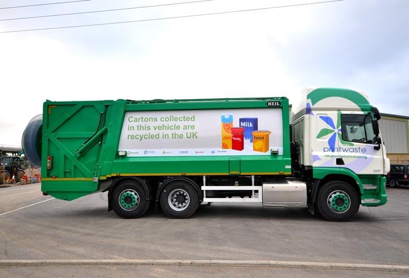 Printwaste bin lorry vinyl graphics
