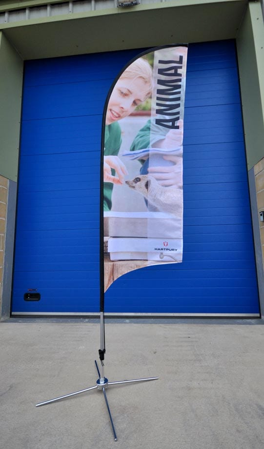 digitally printed bow banner flags