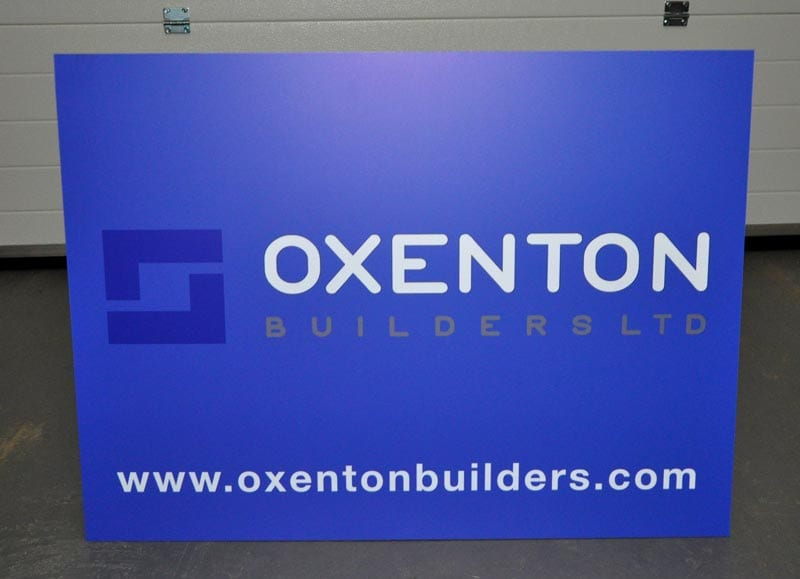 builders advert site sign