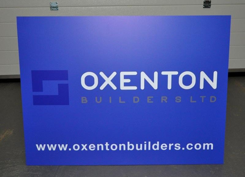 builders advert site sign