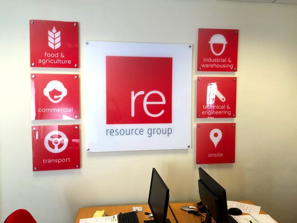acrylic perspex sign