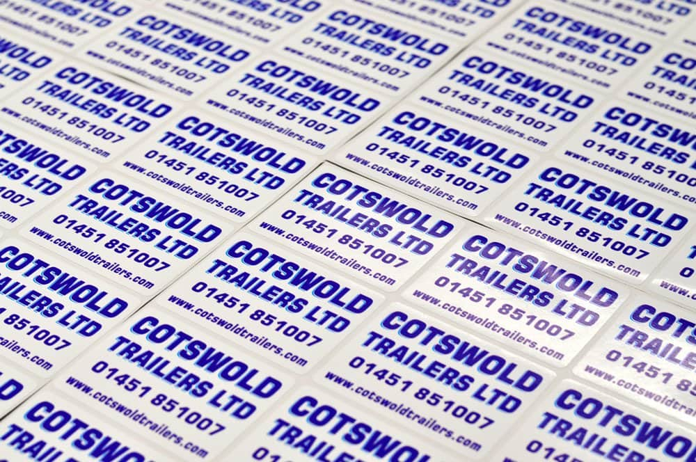 printed labels with gloss laminate