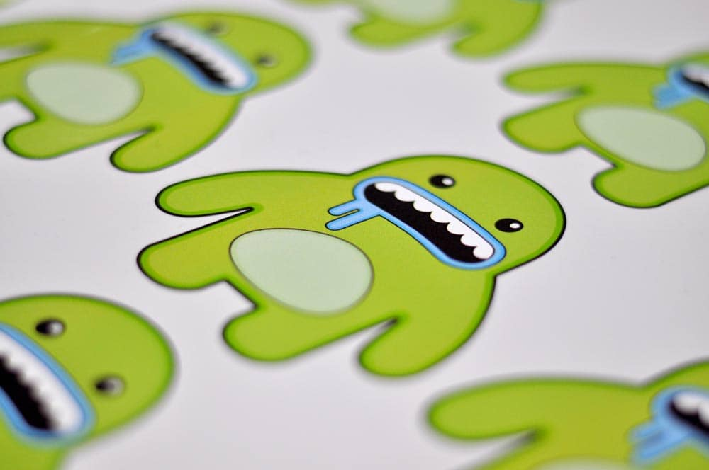 digitally printed stickers with a custom shape