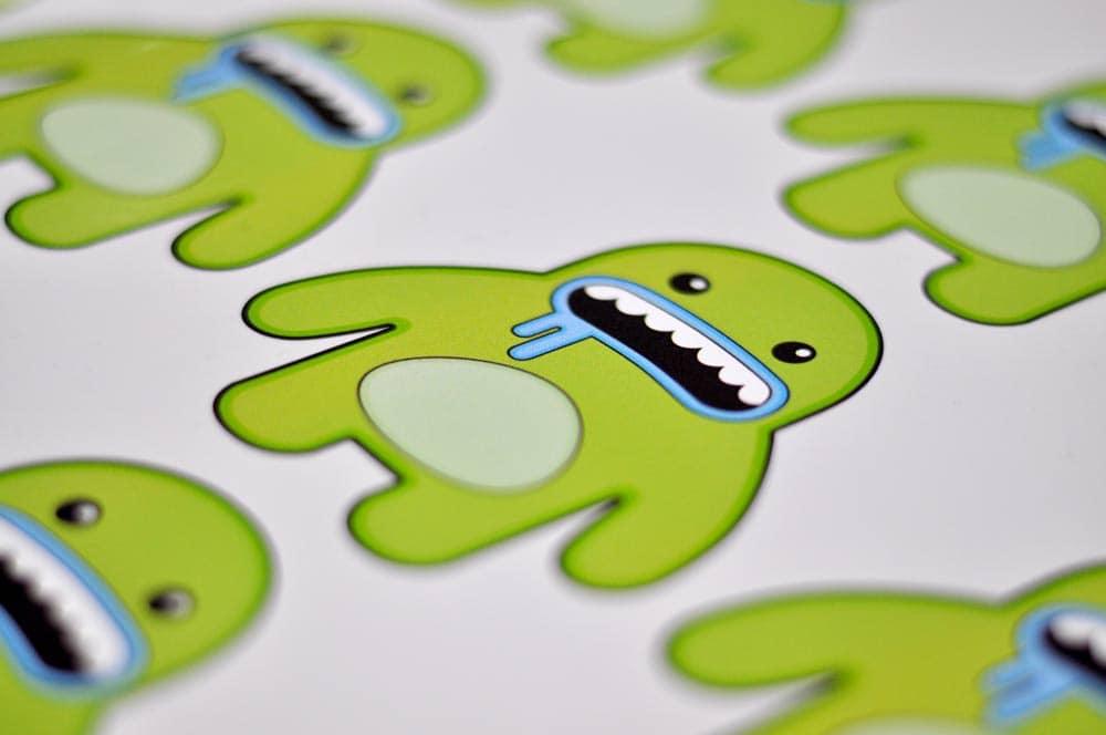 digitally printed stickers with a custom shape