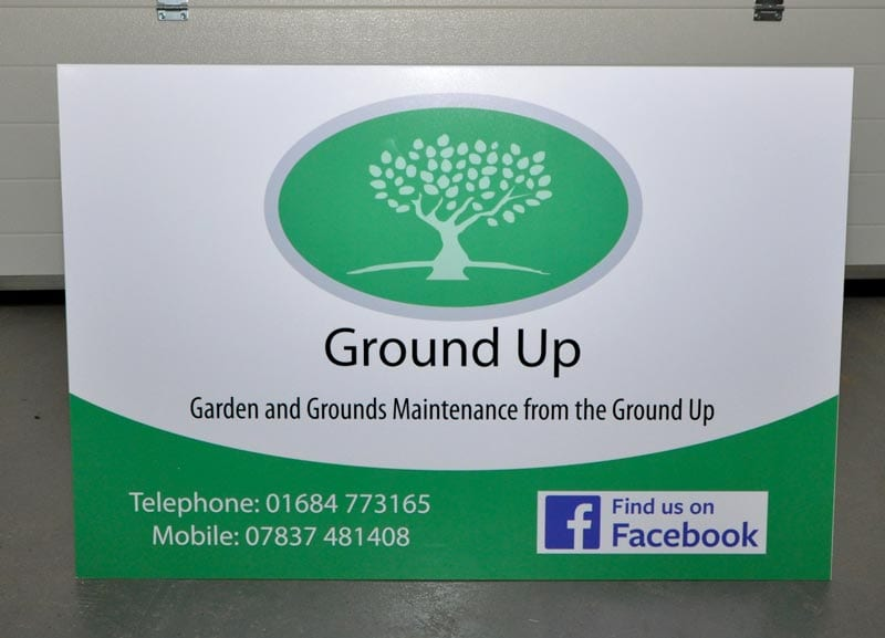 digitally printed dibond site board