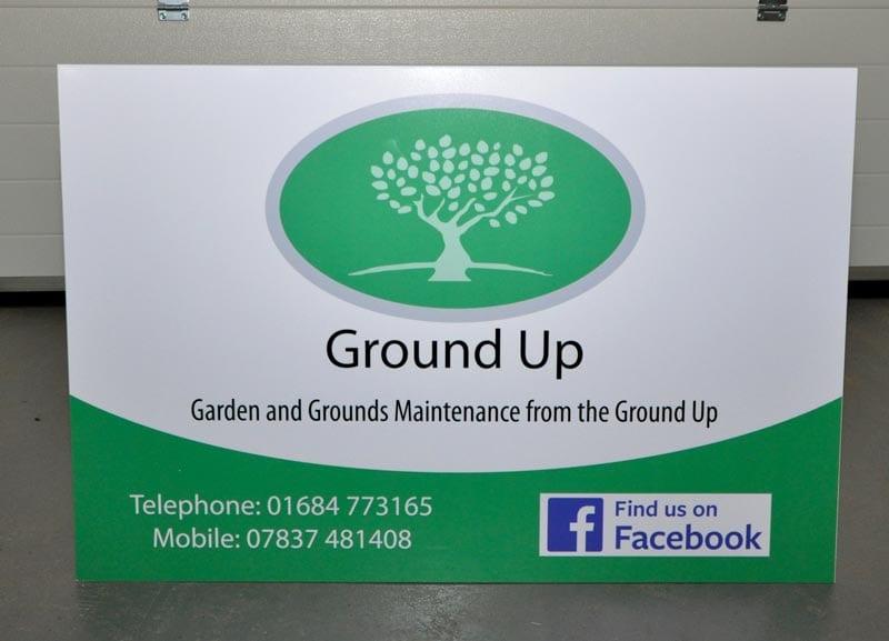 digitally printed dibond site board