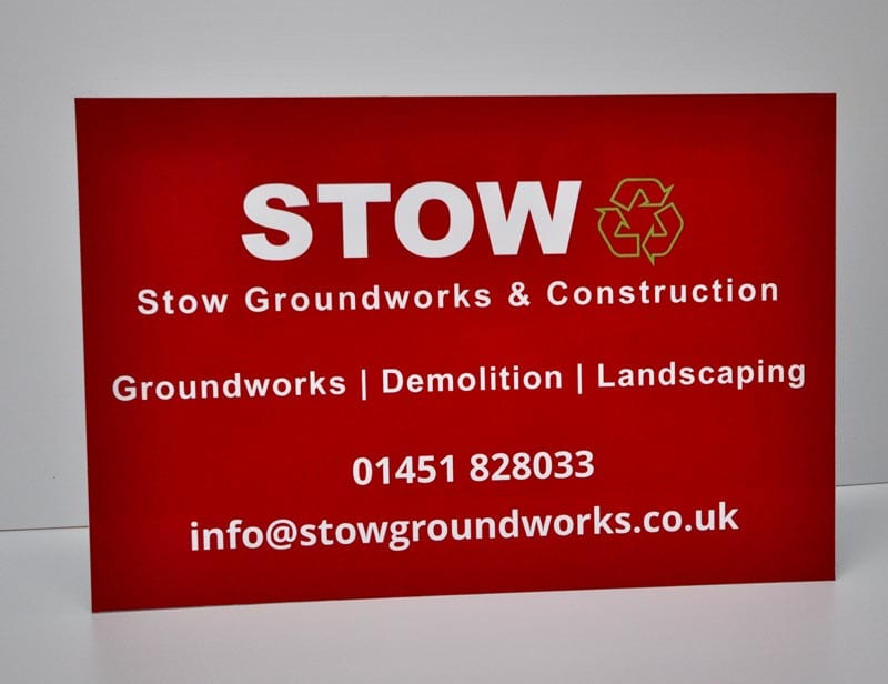 Groundworks and construction site sign