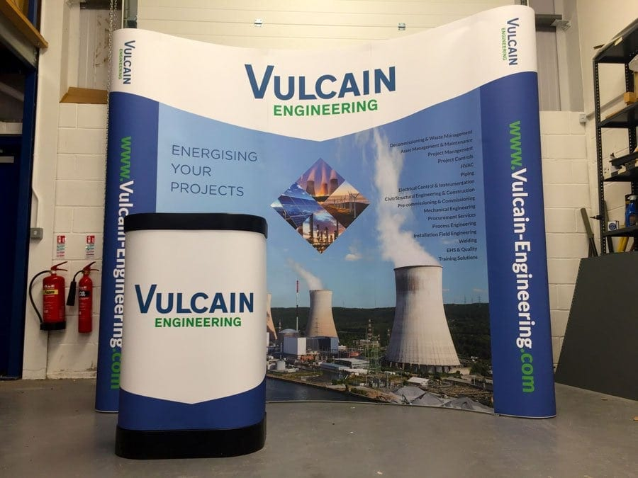 Printed 3x3 pop up exhibition stand