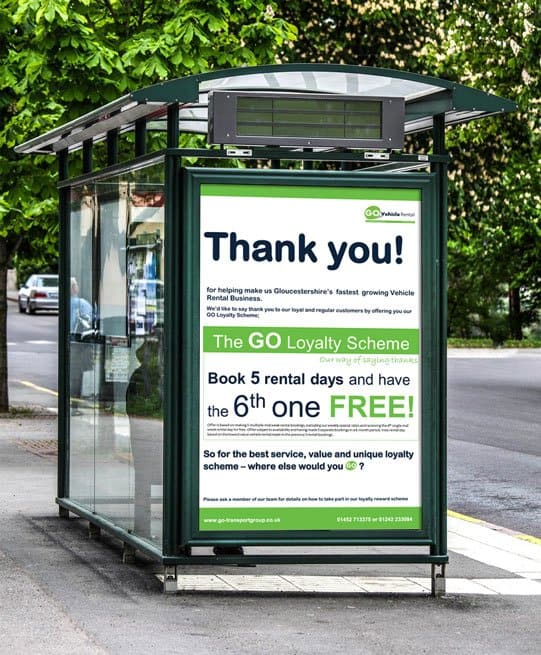 Water proof bus stop poster A0 A1 A2