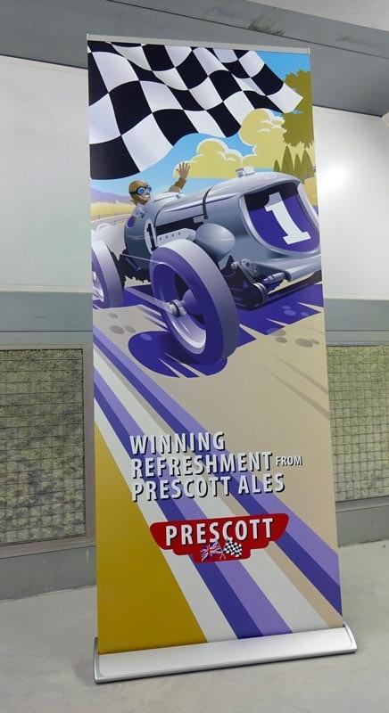 prescott roller banner 800mm wide