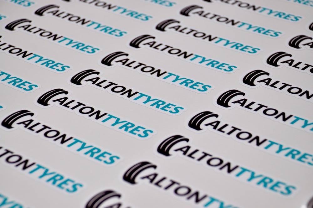 digitally printed logo sticker