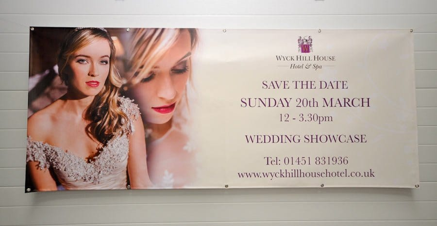 printed wedding banner