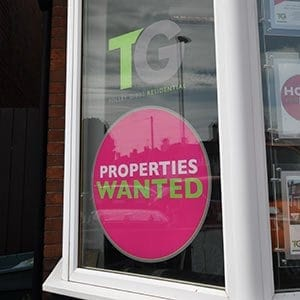 printed window graphics with die cut