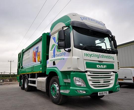 recycling bin lorry vinyl graphics