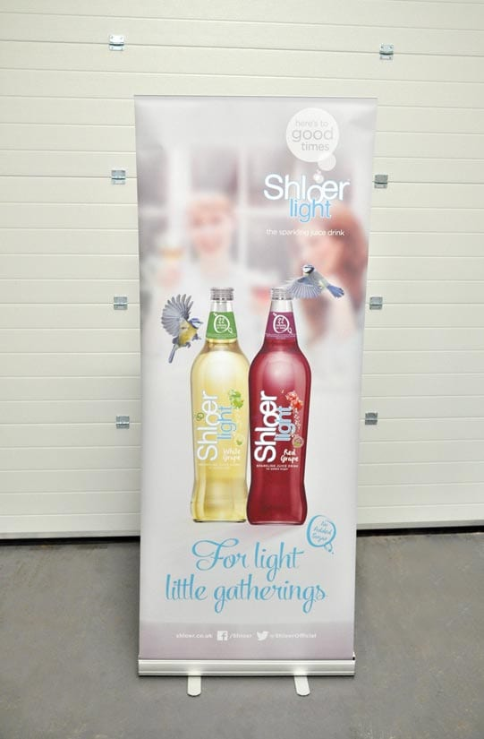 800mm wide printed roller banner