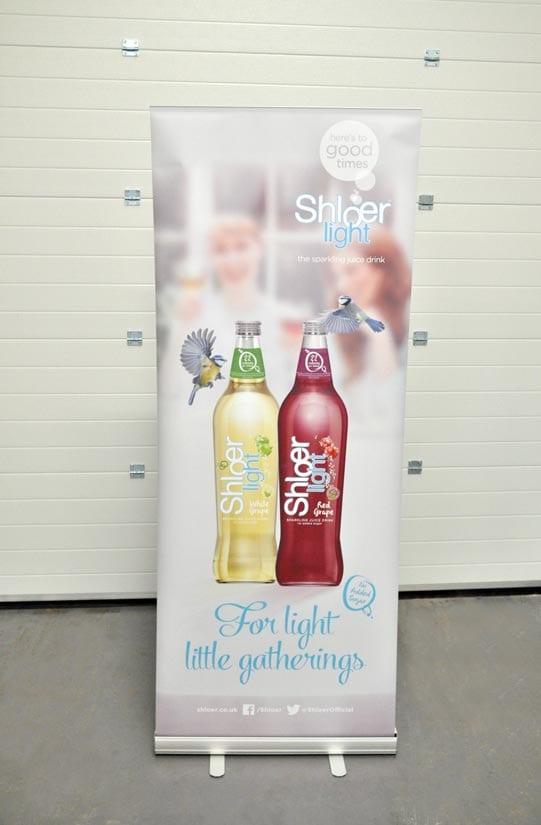 800mm wide printed roller banner