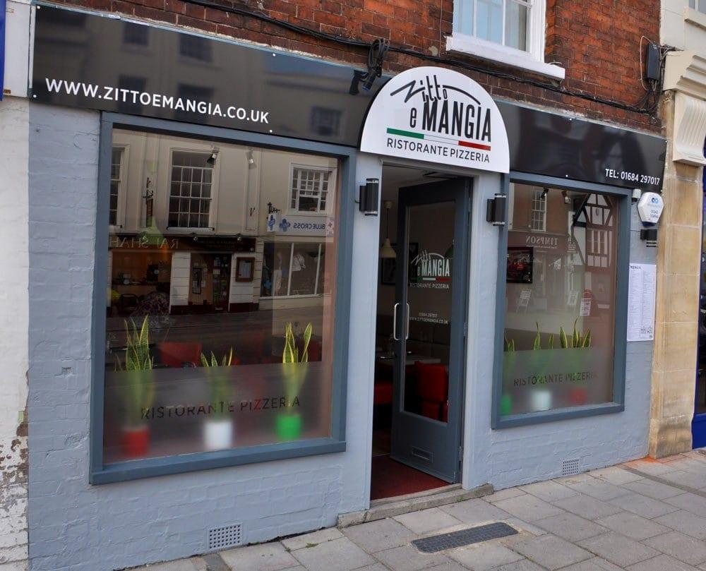 shop and restaurant signage