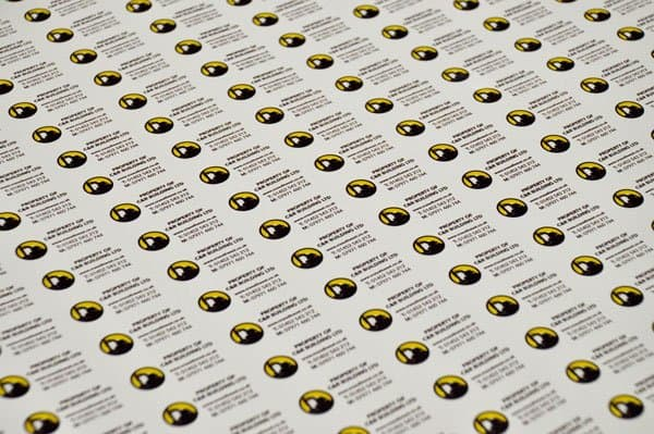 tamper proof stickers printed