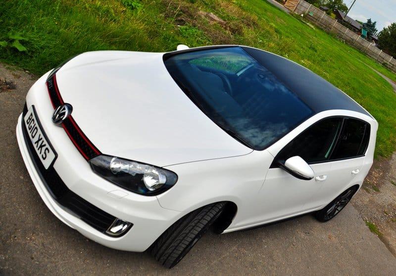 VW golf tdi carbon roof wrap