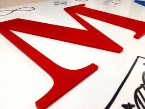 Maths flat cut letters
