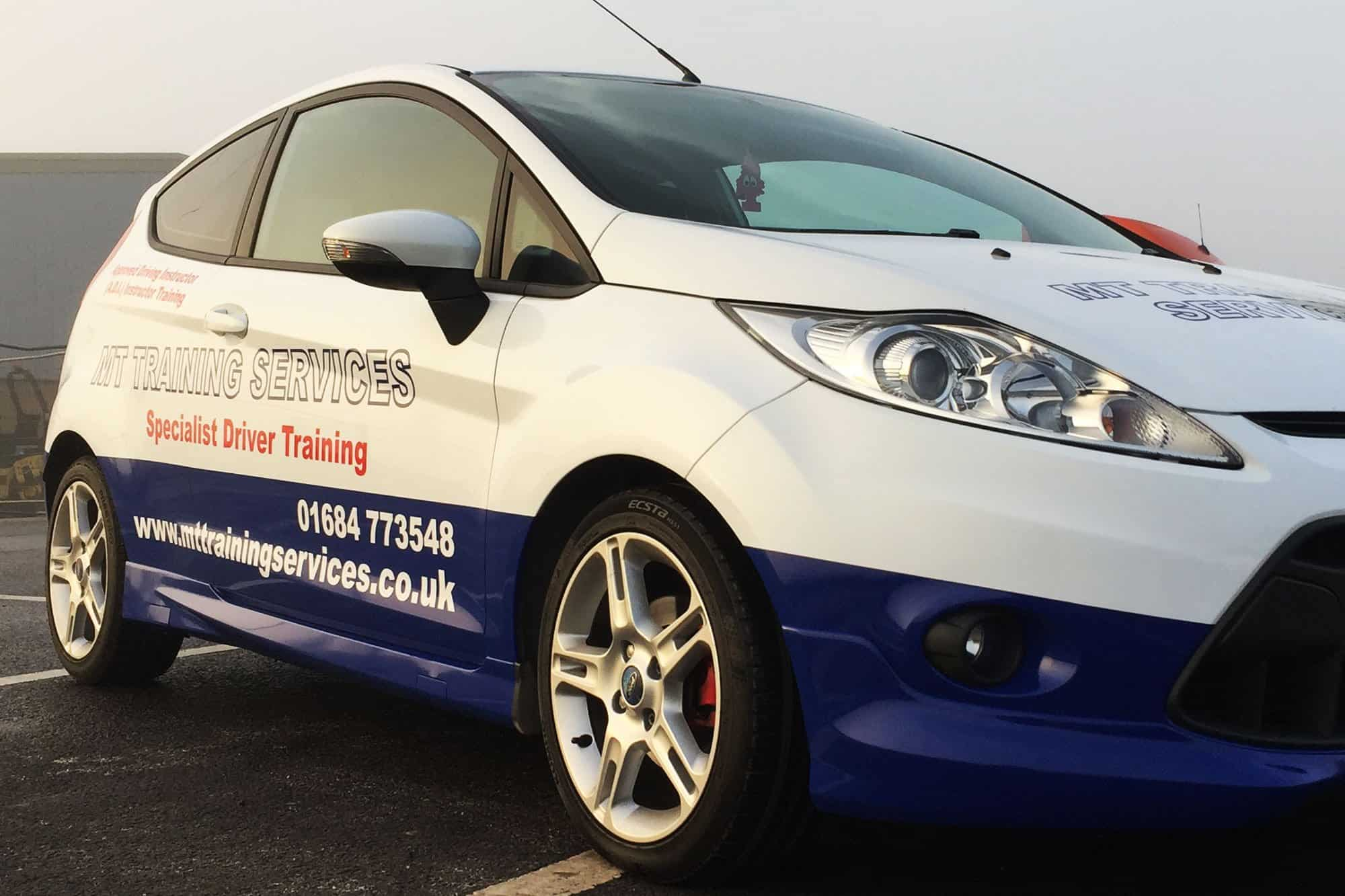 c7a2b388216ba9 Partial vehicle wrap on a Ford Fiesta using Avery Supreme wrap material