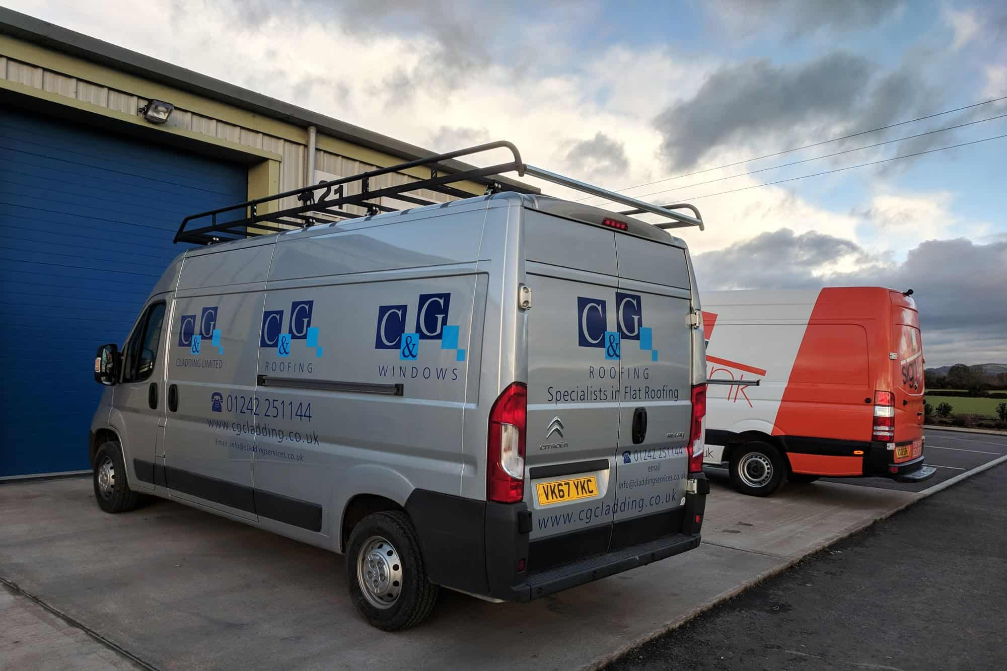 C&G Cladding Dispatch Van