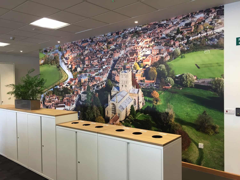 Tewkesbury Printed Wall Scene