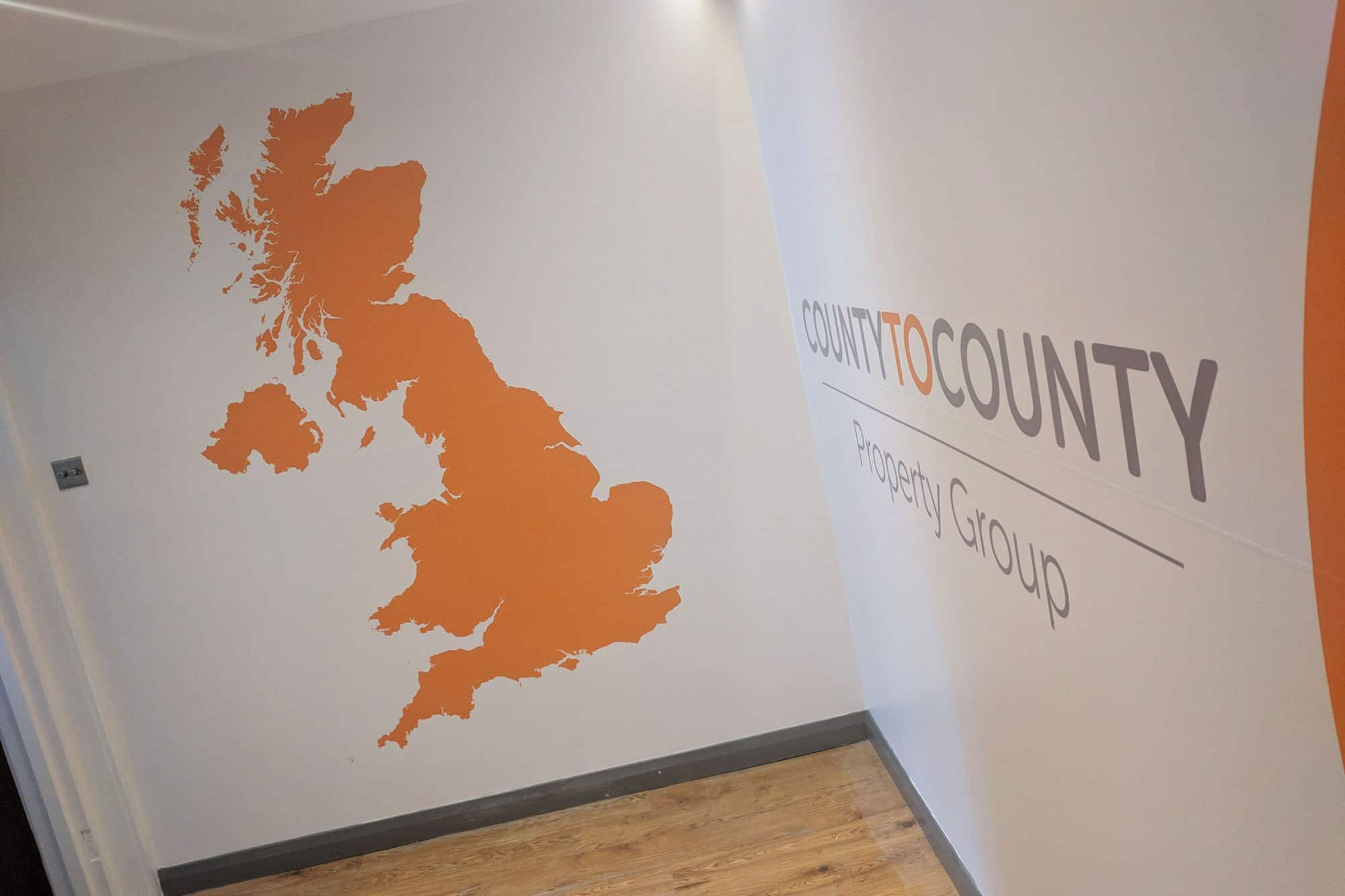 County to County Wall Graphics
