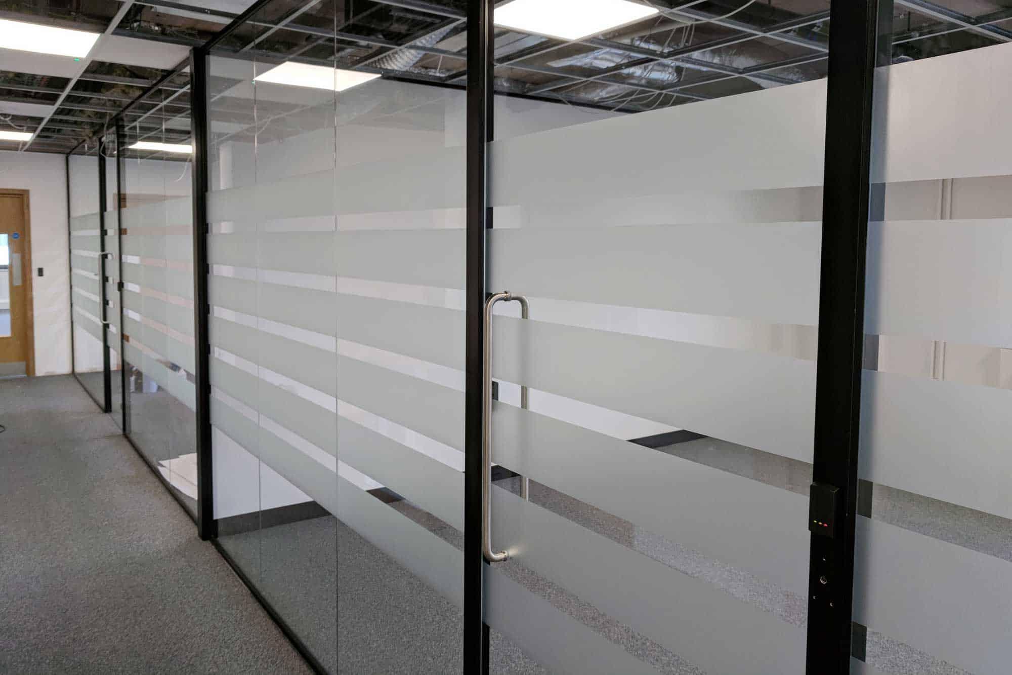 internal office window frost