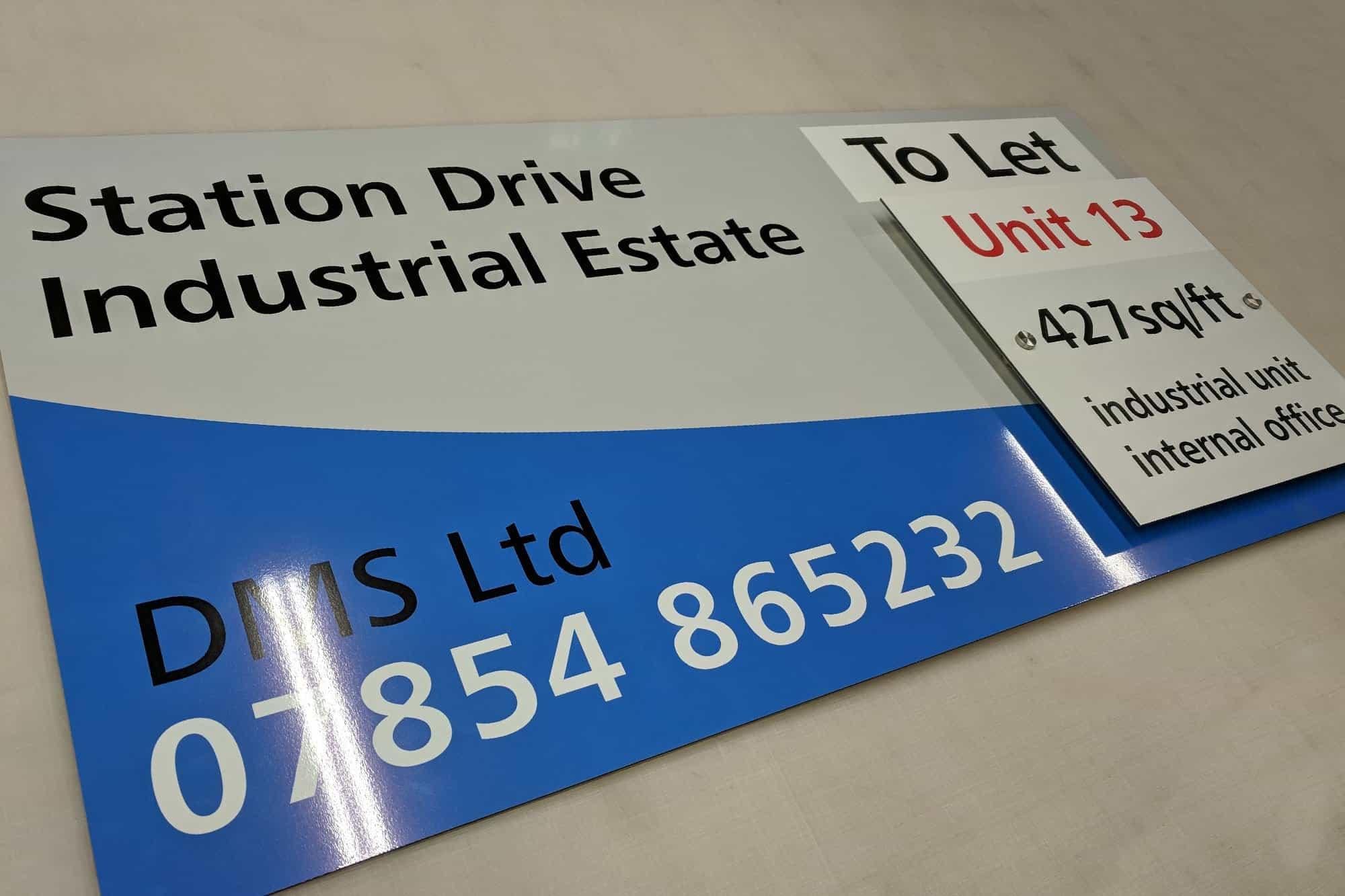 Station Drive Dibond Sign