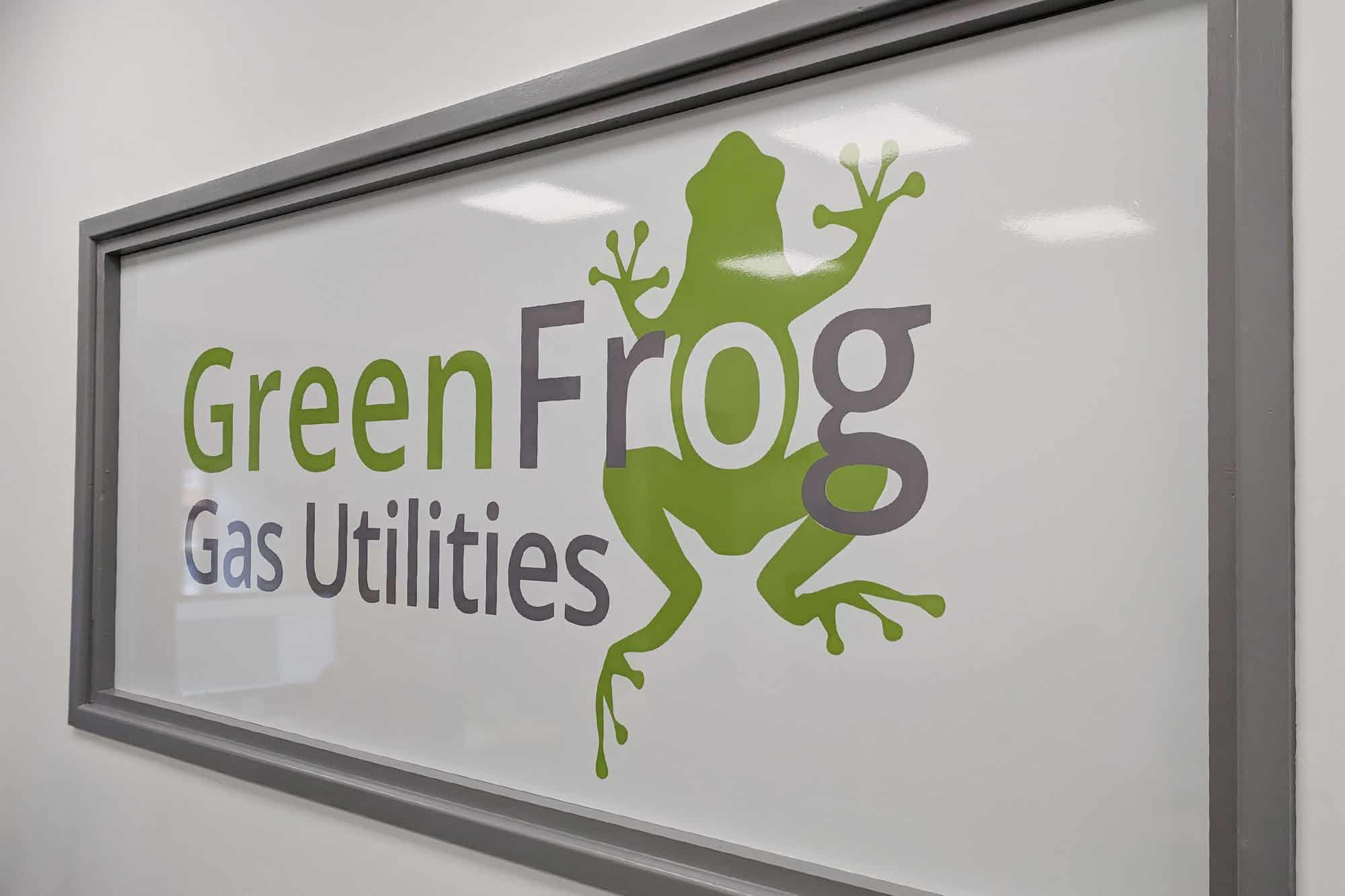 Green Frog Window Graphics