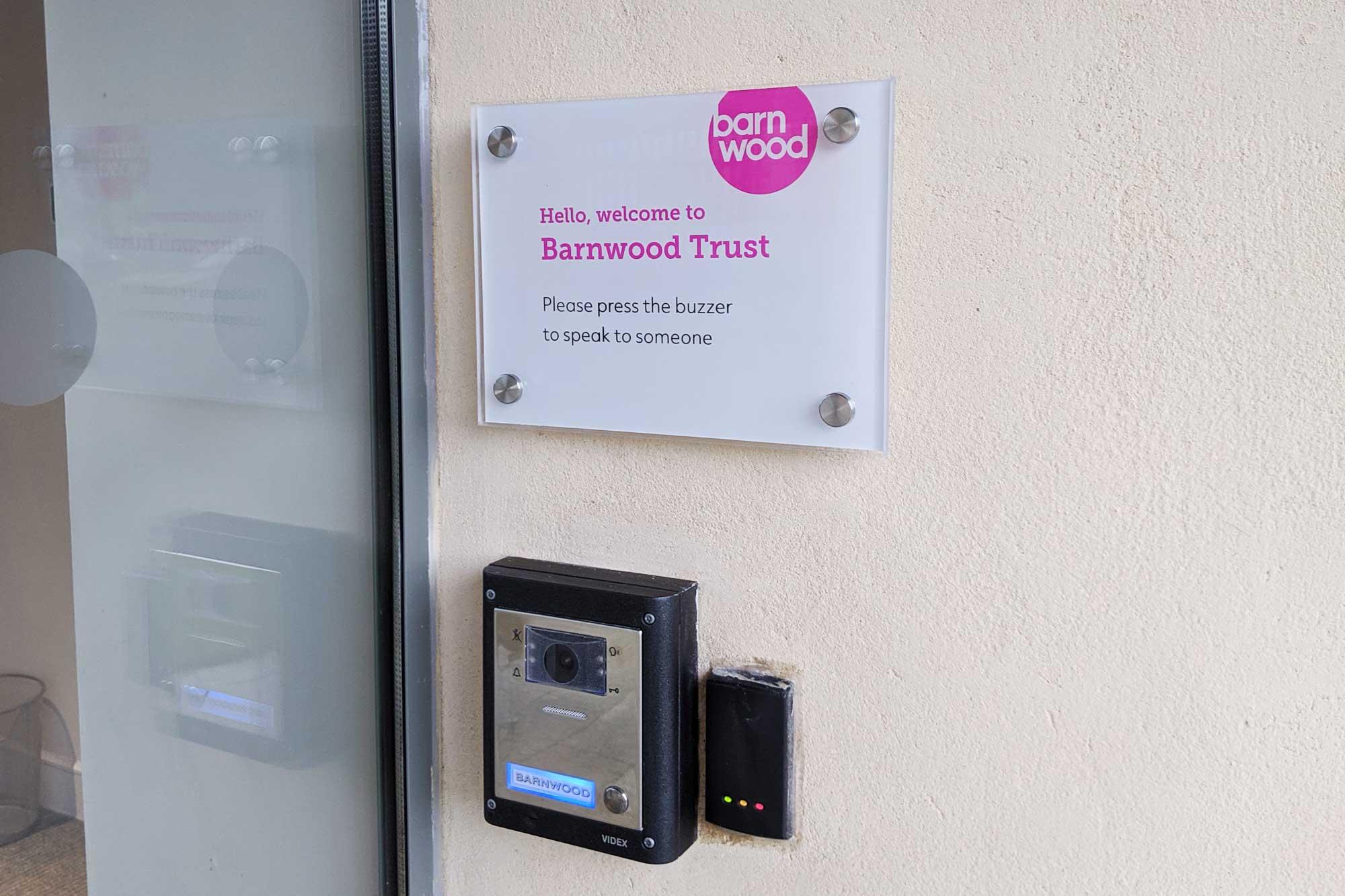 Barnwood Trust Signage acrylic sign